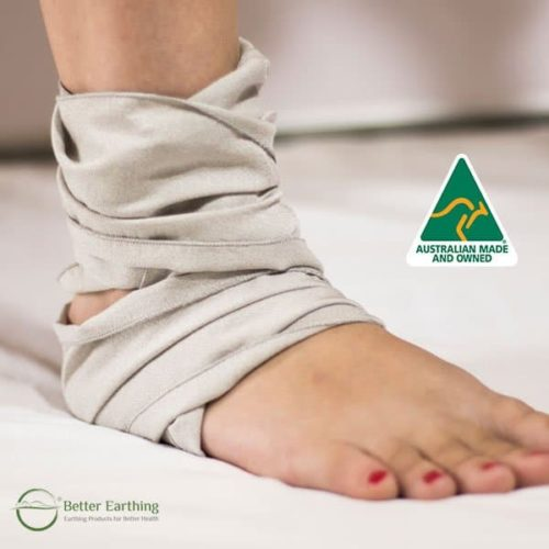 earthing or grounding wrap for pain relief and recovery from injury