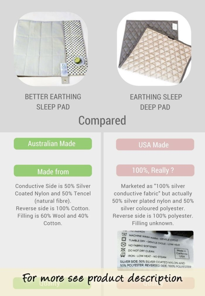 Earthing Sleep Pad Comparison