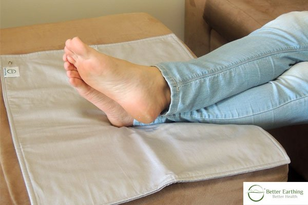 Put your feet up and relax with an earthing pad