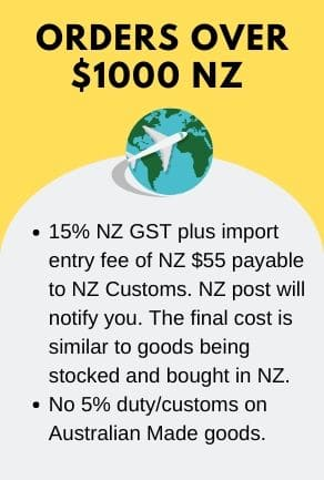 Buying from NZ for orders over $1000 NZ