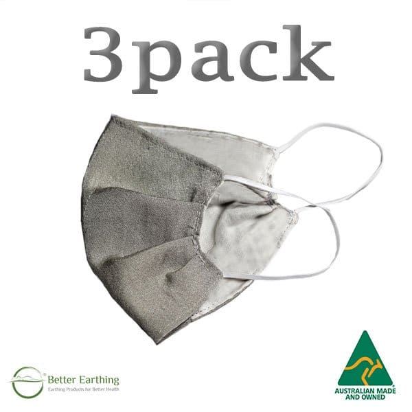 antimicrobial silver face mask 3pack